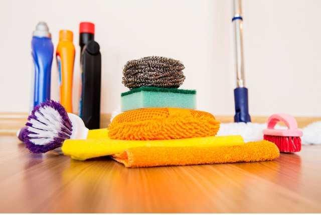 paños, trapos y esponja para limpieza